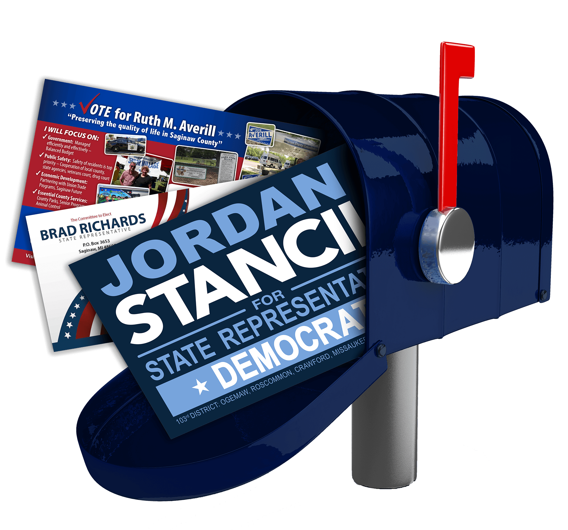 mailbox with political direct mail