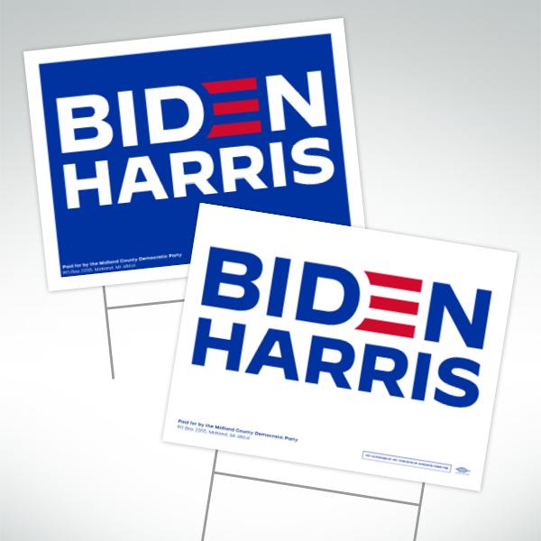 Biden Harris Blue & White signs
